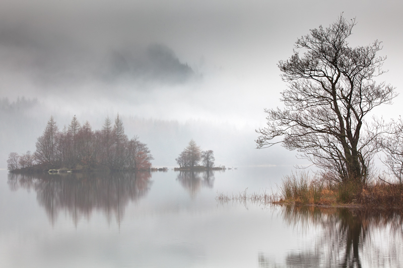 Loch Chon Mist and Islands