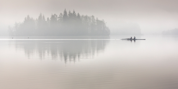 Scull Boat in Fog, Loch Ard, LPOTY 2012 Commended