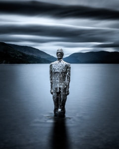 mirror man, Loch Earn, St Fillans.