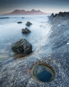 Laig Bay pool and stones