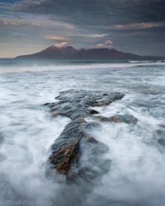 Laig Bay map rock