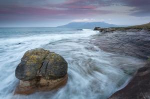 Laig Bay dawn rock