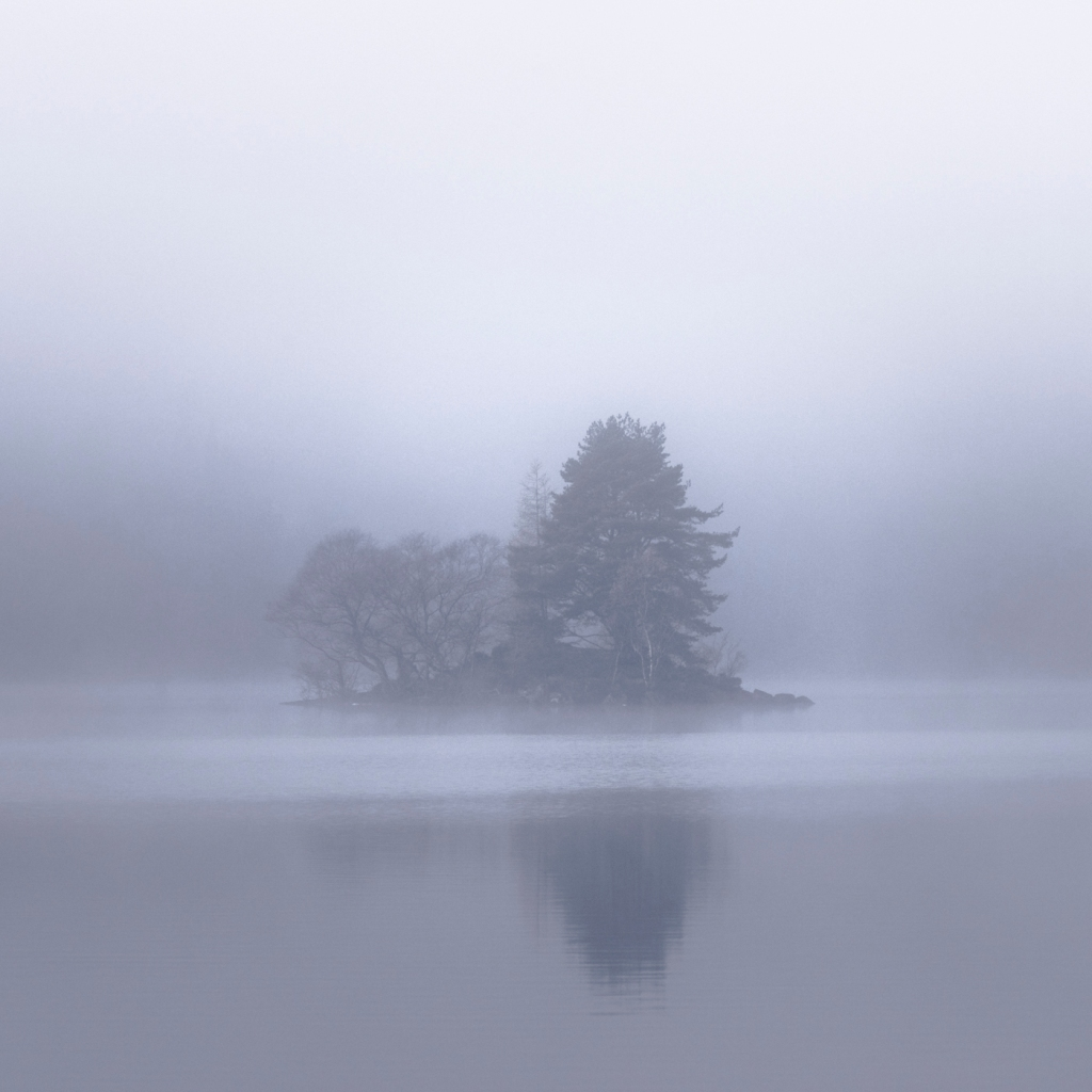 Loch Chon Abstracts in the Fog.